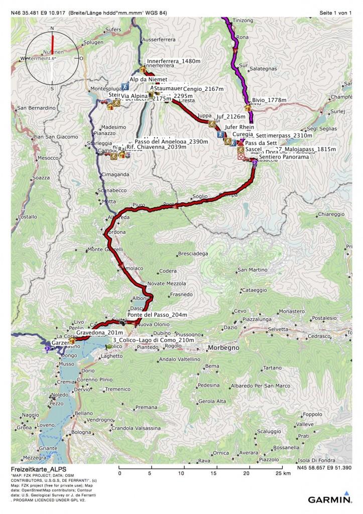 MTB-Aplencross-Tour der fünfte Tag Bivio-Gravedona