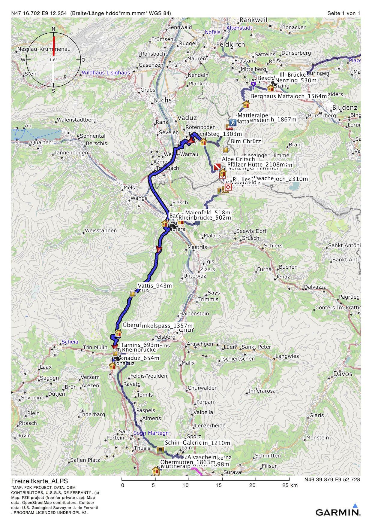 MTB-Alpencross dritter Tourtag Steg-Bonaduz