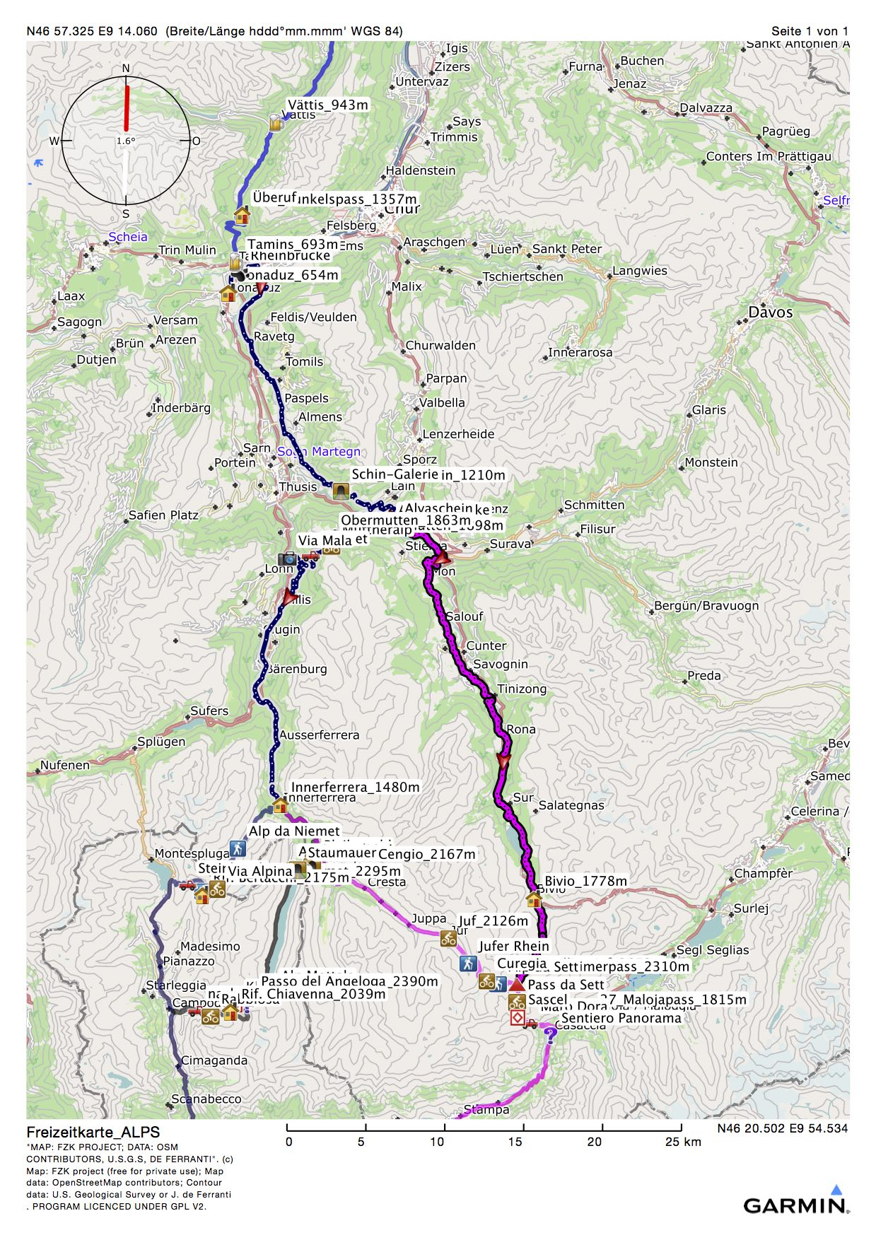 Die MTB-Alpencorss-Tour, der 5. Tag, Bonaduz-Bivio