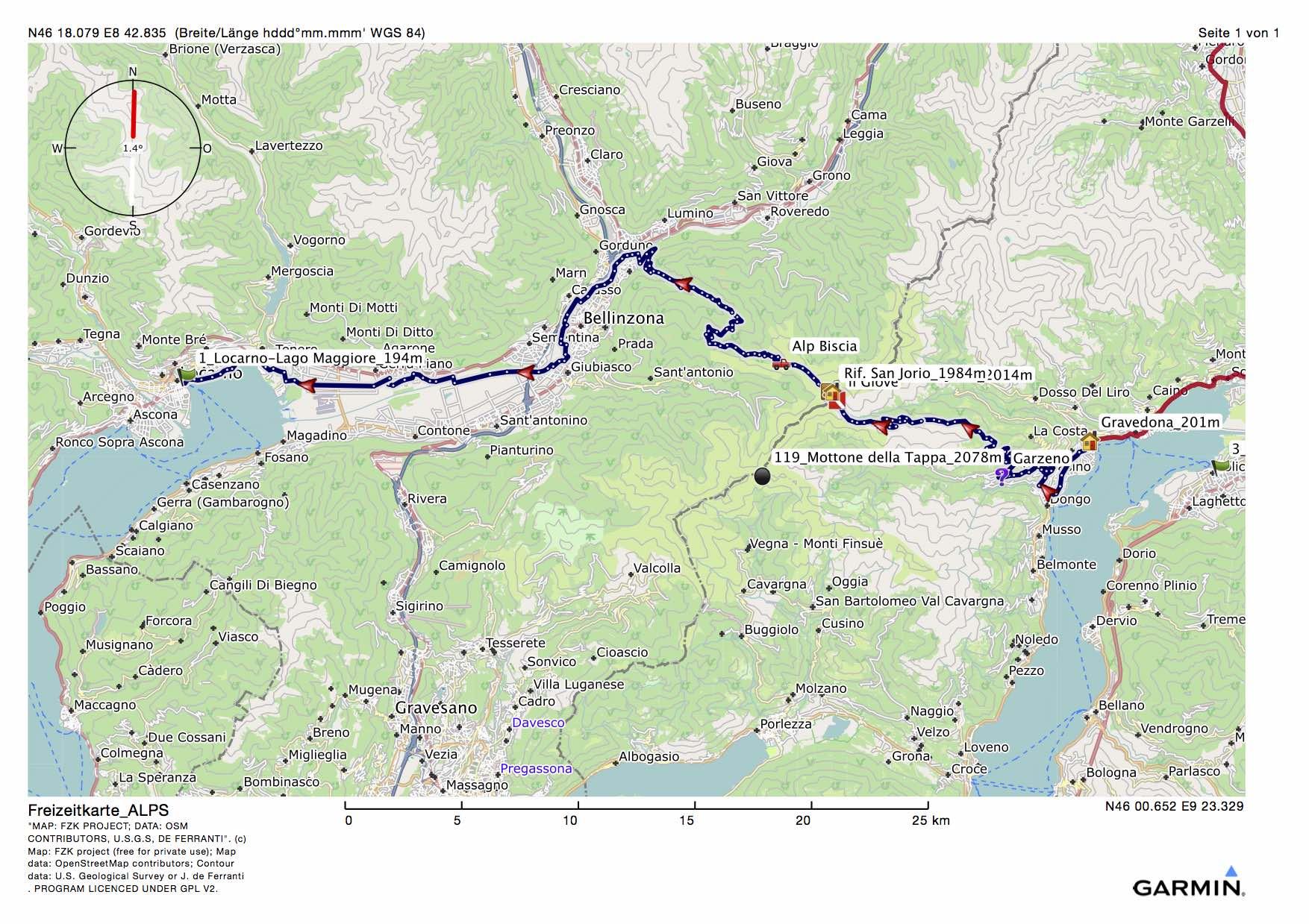 MTB Alpencross Gravedona-Locarno, der sechste Tag