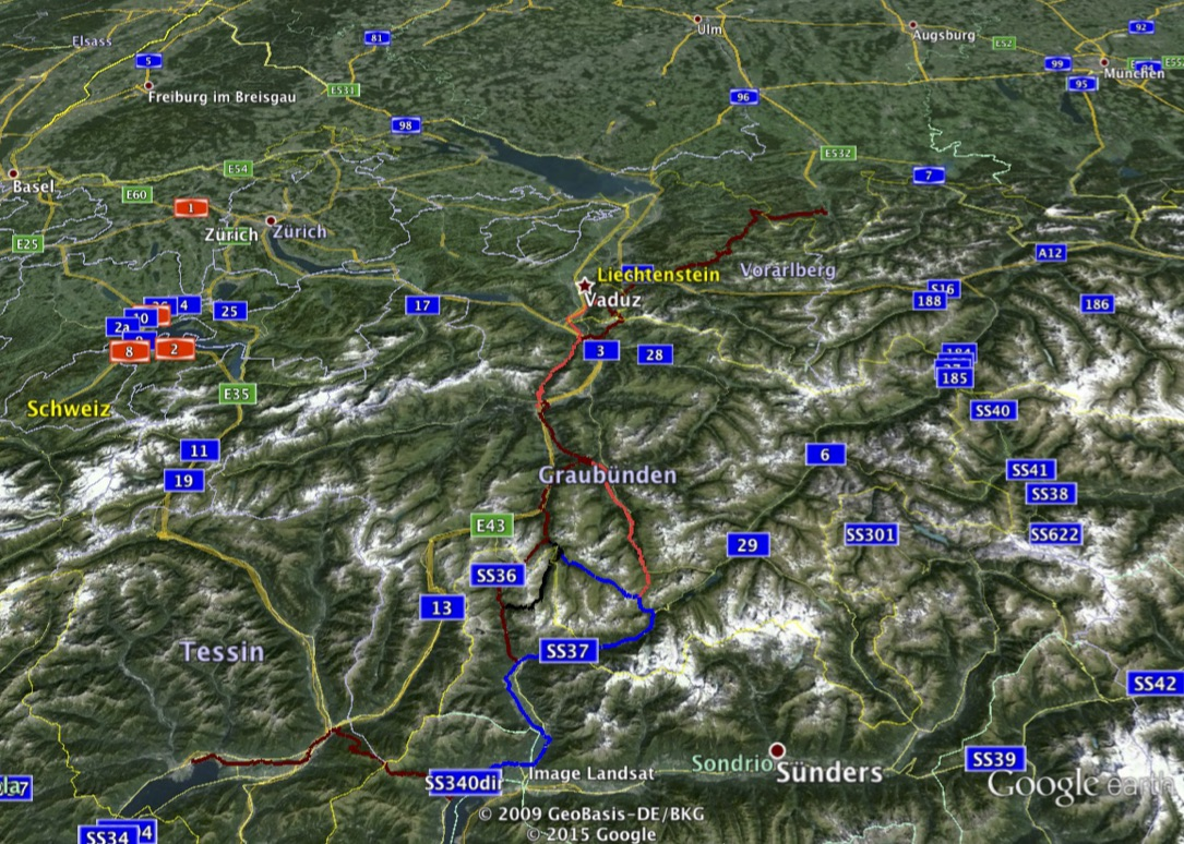 MTB Alpencross Route mit Earth